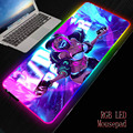MRGBEST RGB Large Gaming Mouse Pad Oversize Glowing Led Extended Mousepad Non-Slip Rubber Base Computer Keyboard Pad Mat for LOL