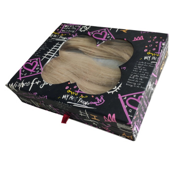 Cardboard Drawer Paper Box for Wig Packaging