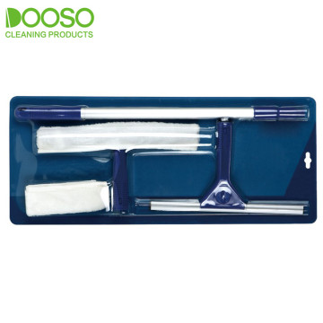 Telescopic Aluminum Pole Window Squeegee with Microfiber