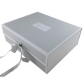 Bespoke Silver Collapsible Magnetic Gift Box