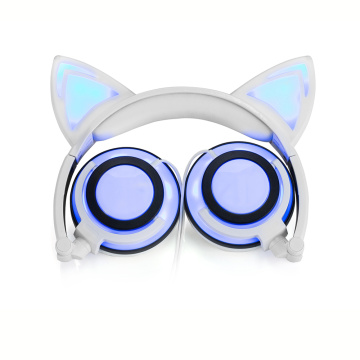 Charging cat ear lighting headphone for children