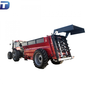 Side throw pasture fertilizer spreading machine