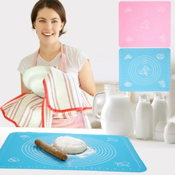 Thicken Silicone Kneading Dough Mat Scale Non-Stick Kitchen Baking Tool Cake Board Large Soft High Temperature Rolling Dough Pad