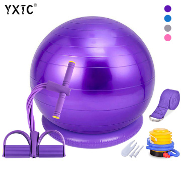 Yoga Ball Chair 55cm 65cm,Exercise Ball & Stability Ring,For power,Balance,Pilates or Birthing Therapy.Use at Office,Gym or Home