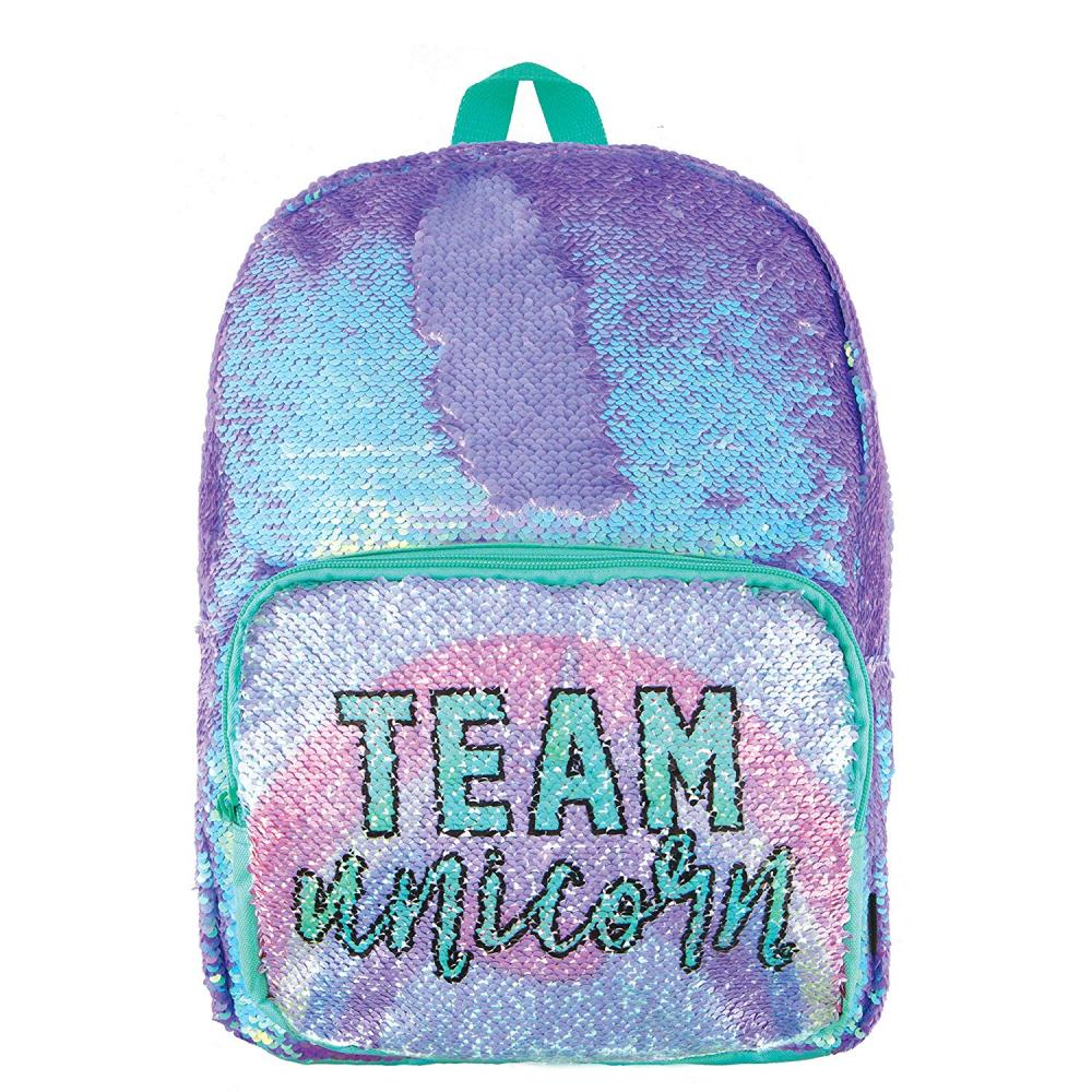 Unicorn Rainbow Sequin Backpack 1