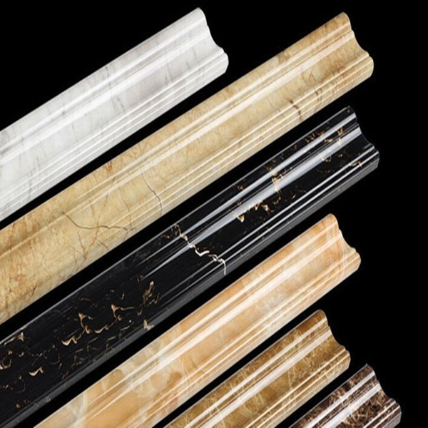 PVC base moulding for interior wall panel decoration