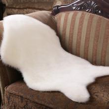 Faux Wool Fur Carpet Chair Cover Seat Pad Soft Sheepskin Floor Rugs Mat Room Decor