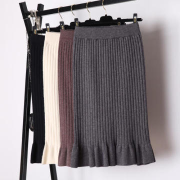 Winter New Fashion Knitted Elegant Skirt
