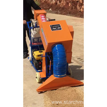 paddy rice grain collecting and bagging machine