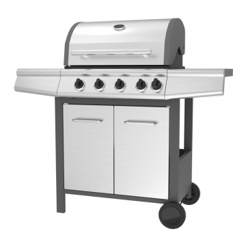Four Burner BBQ Grill with Side Burner