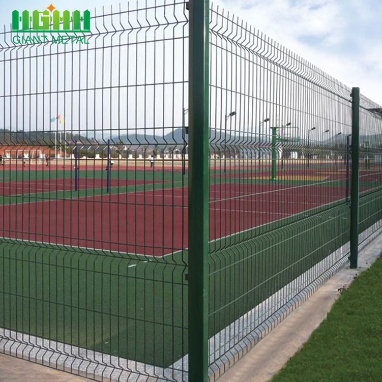Home Metal Triangle Curved Wire Mesh Garden Fence