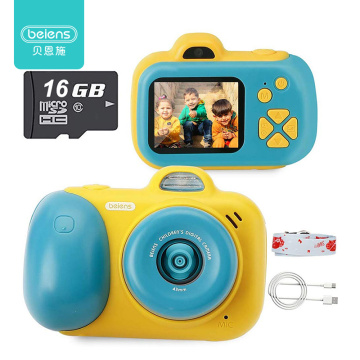 Beiens Kids Camera Toys 24MP Selfie Digital Photo Camera Children Educational Toy 12 Languages 16G Supported Birthday Gifts