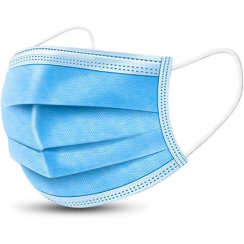 Blue 3 Ply Disposable Earloop Face Mask