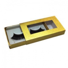 Gold Printing Custom Eyelash Box Packaging