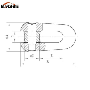 U-shape Wire Rope Joint Connector