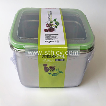 304 Stainless Steel Lunch Box Rectangular Crisper Fruit