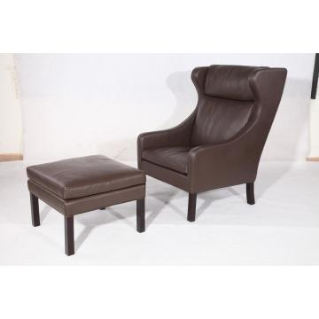 Borge Mogensen 2204 lounge chair and ottoman replica