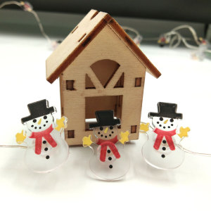 Christmas led fairy light with Snowman