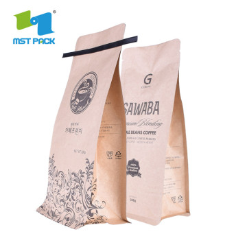 Flat Bottom Gusset Custom Aluminum Foil Coffee Bags