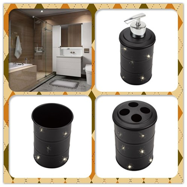 Black Bathroom Soap Dispenser