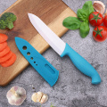 6 Inches Blue Handle White Ceramic Knife