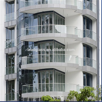 Customized Clear Tempered Laminated Frameless Balcony Glass