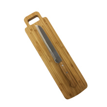 Bamboo Board With Bread Knife Set