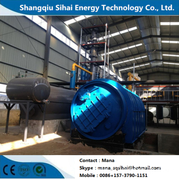 Used rubber extraction to fuel oil cracking machine
