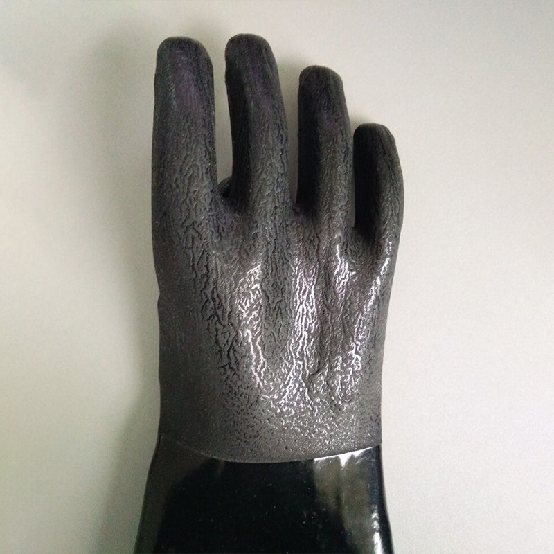 Black 60cm gloves with sandy Finish