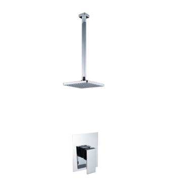 Concealed Bath Tap With Square Brass Chrome Plate
