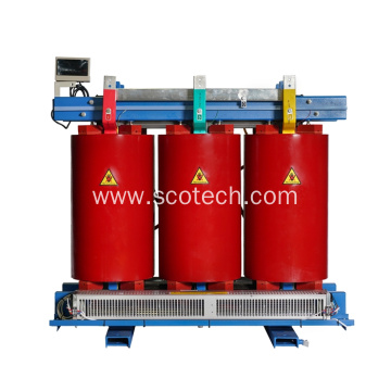 Forced air cooled dry type transformer