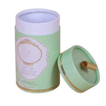 Custom Cyclinders Paper Tube Packaging With Rolled Edge