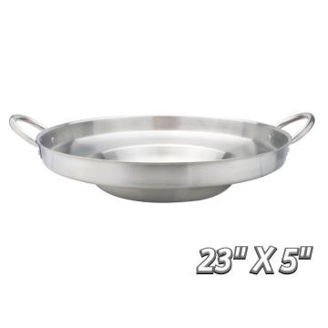 "23"" Heavy Duty Stainless Steel Concave Comal"