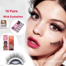 3 olika stilar Koreanska PBT fiber koreanska silke false eyelashes 10pairs / box
