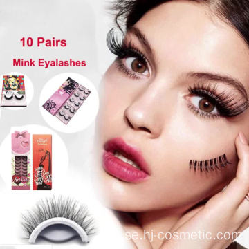2019 Ny False Eyelash Private Label Packaging Fake Eyelash 10 Par