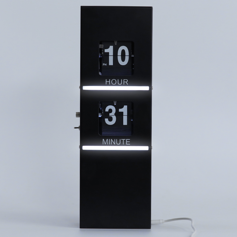 Flip Clock With Lighting