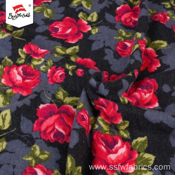 Fashion Rayon Spandex Floral Lurex Printed Poly Fabric