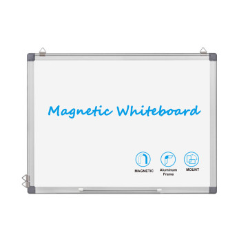 Double sided magnetic writing white board for home