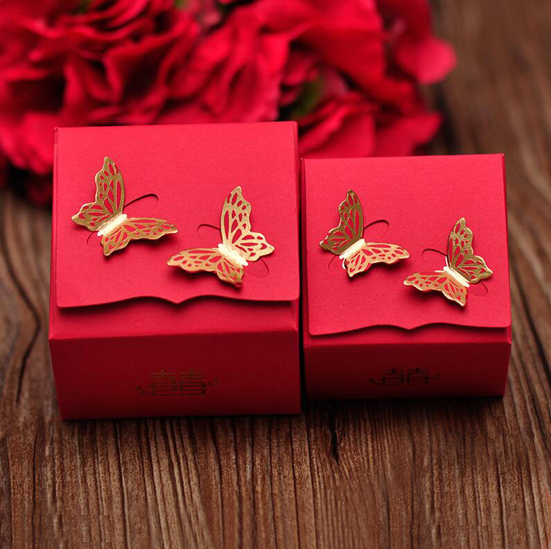 Chinese Style Red Wedding Celebration Candy Box