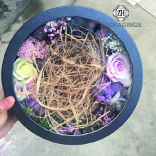 Luxury round transparent window flower box