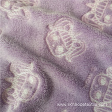 Glue Printed Flannel Printing Blanket Fabric