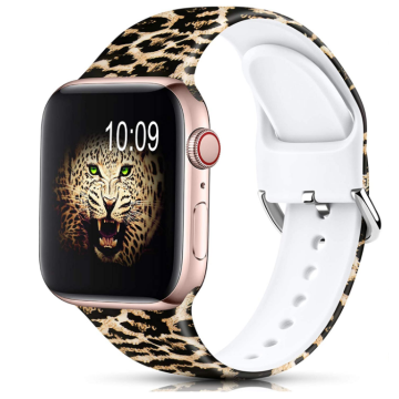 Silicone Printed Fadeless Pattern Apple Watch Strap Band