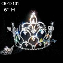 Small rhinestone pageant birthday crowns with hanging charm