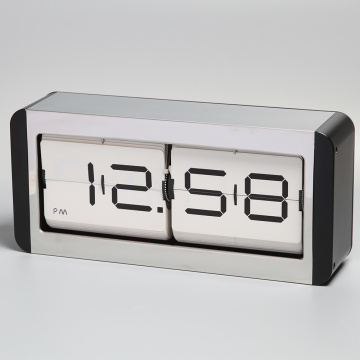 Big Metal Flip Table Clock