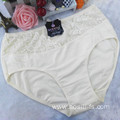 the hottest sale mesh lace China new cotton sexy plus size beige panty 3xl 5835