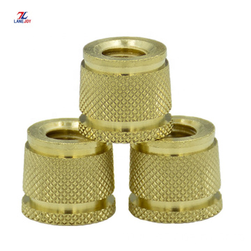 Brass Knurled Insert Nut Pin/brass threaded insert nuts
