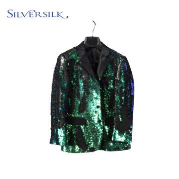 Bling bling blazer fancy reversible sequins designed suits
