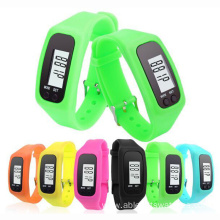 Silicone Sports LCD Bracelet Pedometer