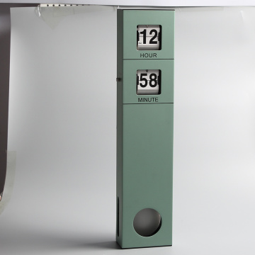 Long Pendulum Wall Flip Clock