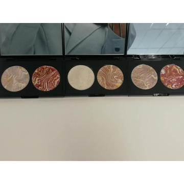 Matte and shimmer tone series highlight blush